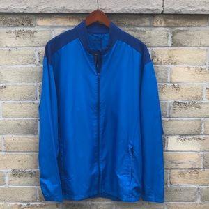 Adidas Club Golf Wind Jacket Mens Blue Mesh Large